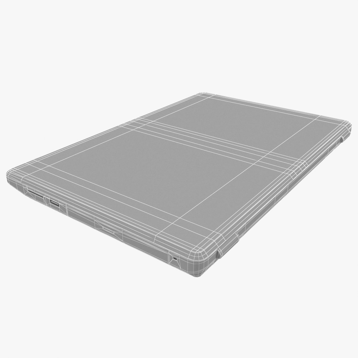 generic notebook laptop 3d model max fbx ma mb obj 298275