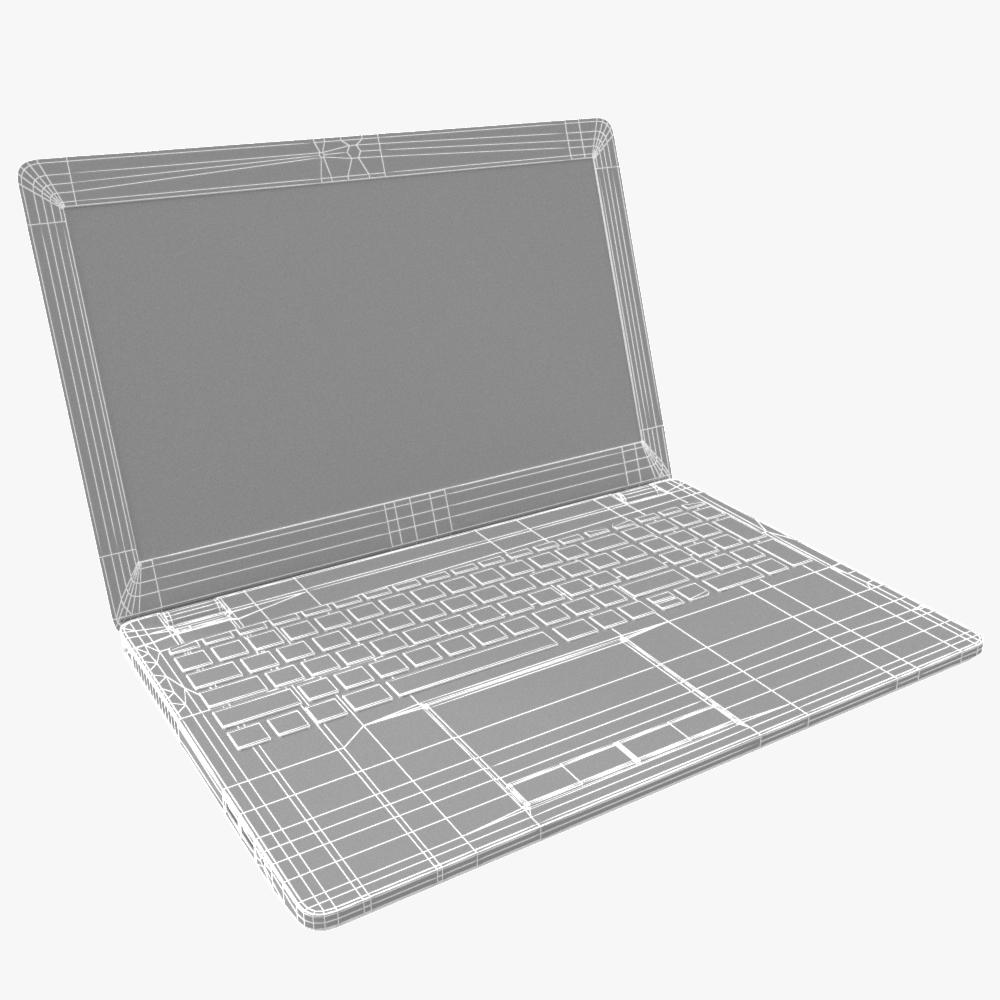 generic notebook laptop 3d model max fbx ma mb obj 298282