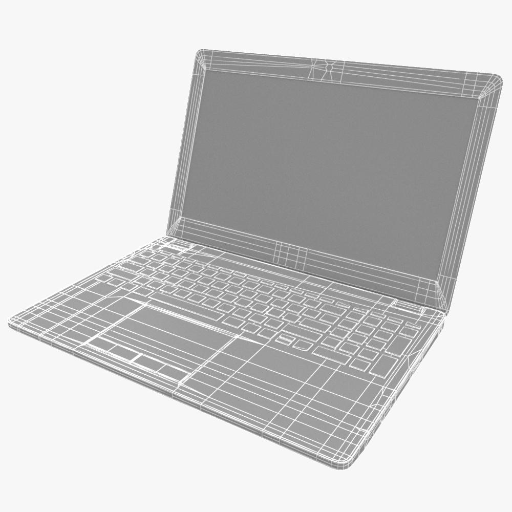 generic notebook laptop 3d model max fbx ma mb obj 298283