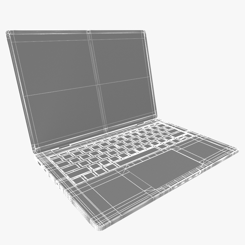 generic ultrabook laptop notebook 3d model max fbx ma mb obj 298310