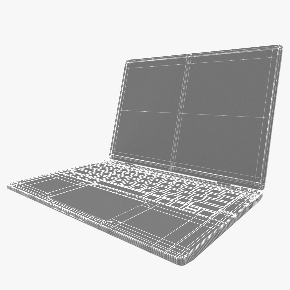 generic ultrabook laptop notebook 3d model max fbx ma mb obj 298311