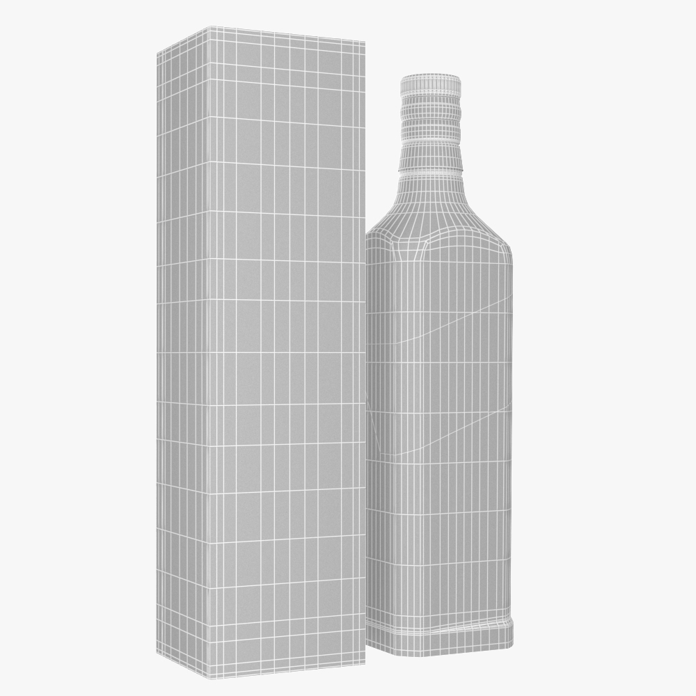 alcohol bottle vodka whisky collection 3d model max fbx ma mb obj 298375