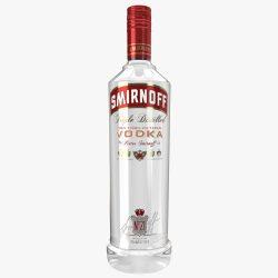 smirnoff vodka bottle 3d model max fbx ma mb obj 298492