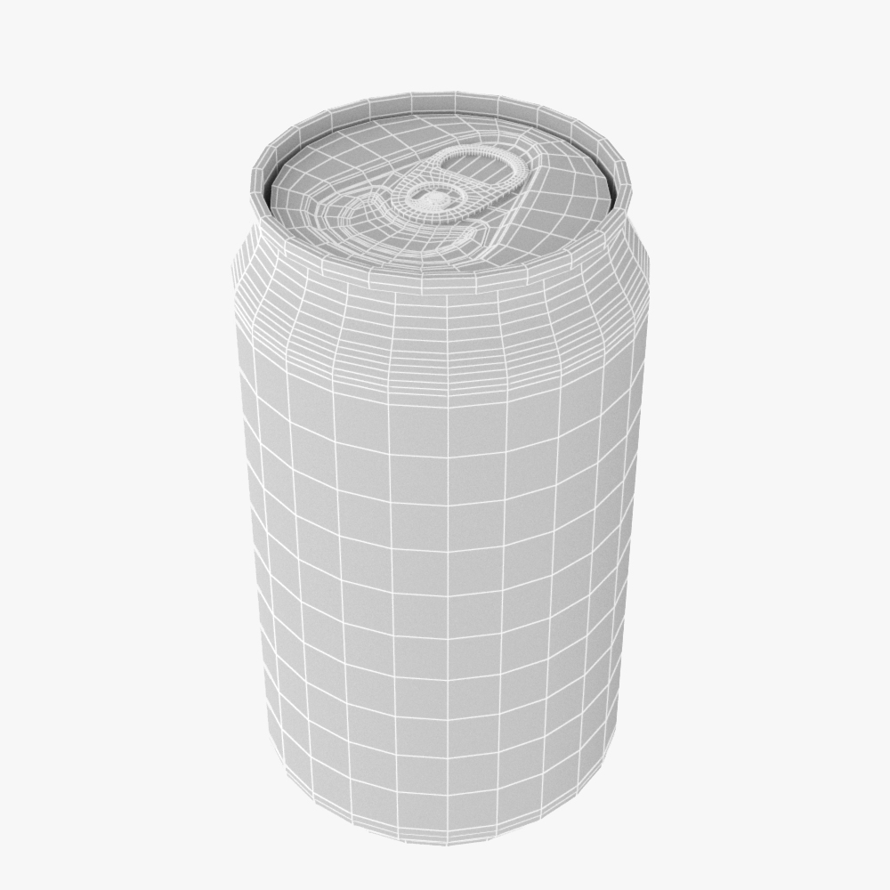 soft drink can collection 3d model max fbx ma mb obj 298517