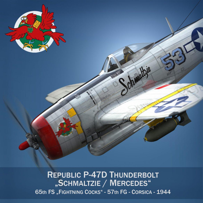republic p-47d thunderbolt – schmaltzie 3d model fbx c4d lwo obj 298560