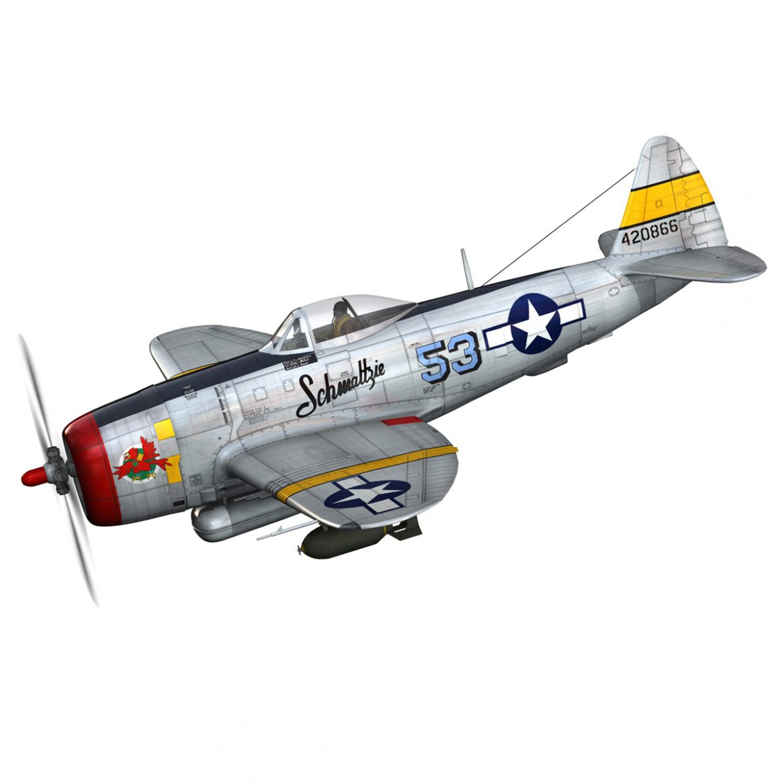 republic p-47d thunderbolt – schmaltzie 3d model fbx c4d lwo obj 298561