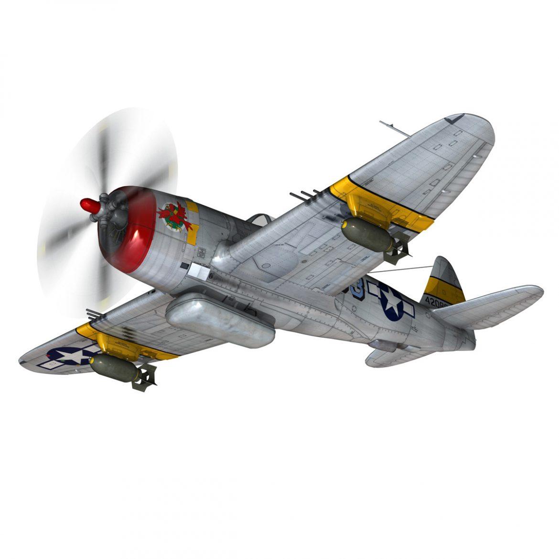 republic p-47d thunderbolt – schmaltzie 3d model fbx c4d lwo obj 298562