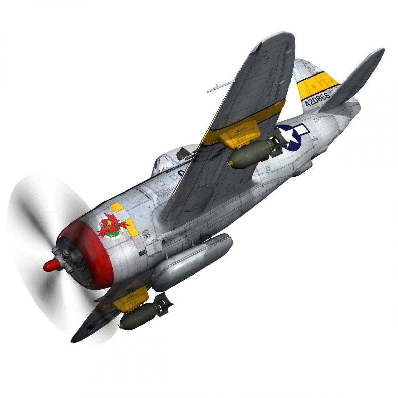 republic p-47d thunderbolt – schmaltzie 3d model fbx c4d lwo obj 298563