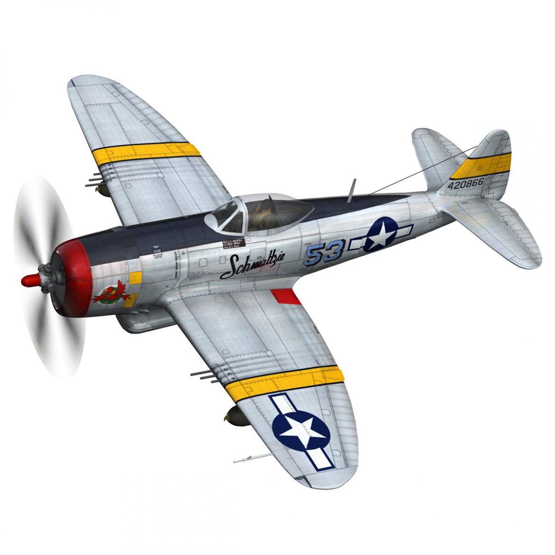 republic p-47d thunderbolt – schmaltzie 3d model fbx c4d lwo obj 298564