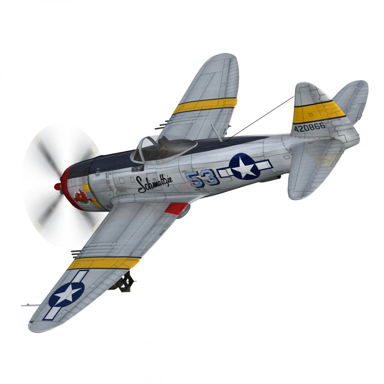 republic p-47d thunderbolt – schmaltzie 3d model fbx c4d lwo obj 298565