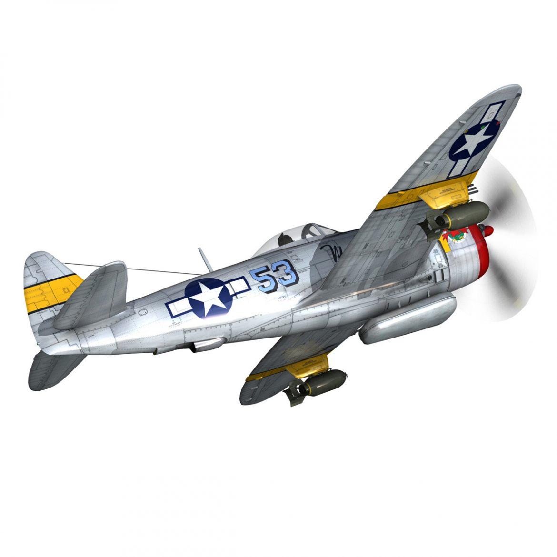 republic p-47d thunderbolt – schmaltzie 3d model fbx c4d lwo obj 298566