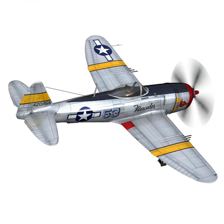 republic p-47d thunderbolt – schmaltzie 3d model fbx c4d lwo obj 298567