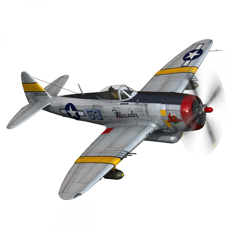 republic p-47d thunderbolt – schmaltzie 3d model fbx c4d lwo obj 298568