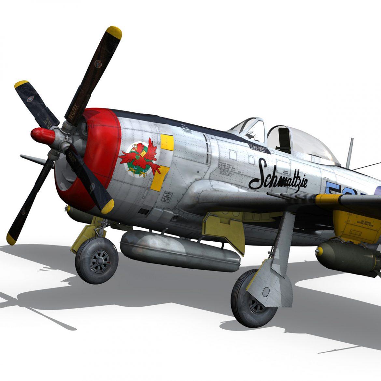 republic p-47d thunderbolt – schmaltzie 3d model fbx c4d lwo obj 298569