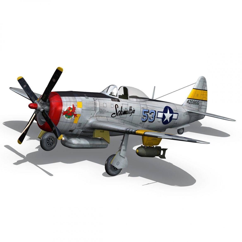 republic p-47d thunderbolt – schmaltzie 3d model fbx c4d lwo obj 298570