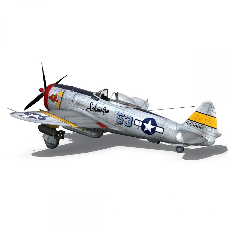 republic p-47d thunderbolt – schmaltzie 3d model fbx c4d lwo obj 298571
