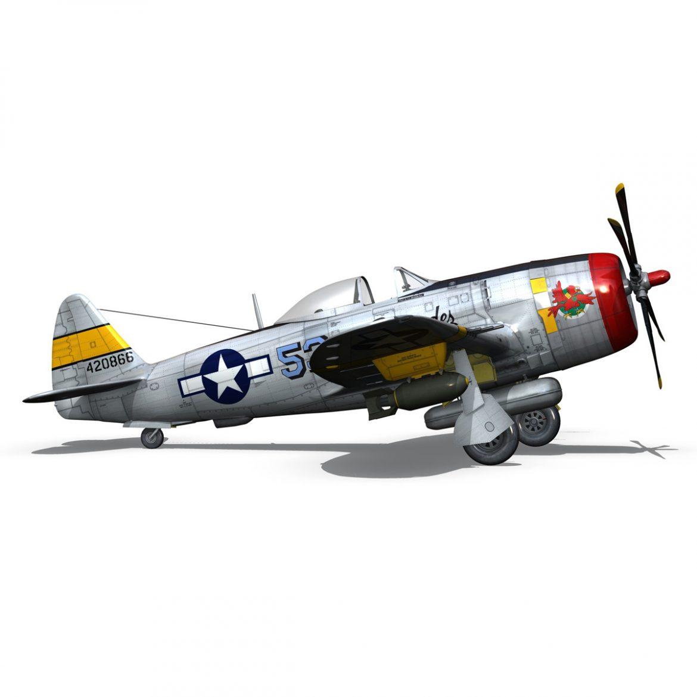 republic p-47d thunderbolt – schmaltzie 3d model fbx c4d lwo obj 298573