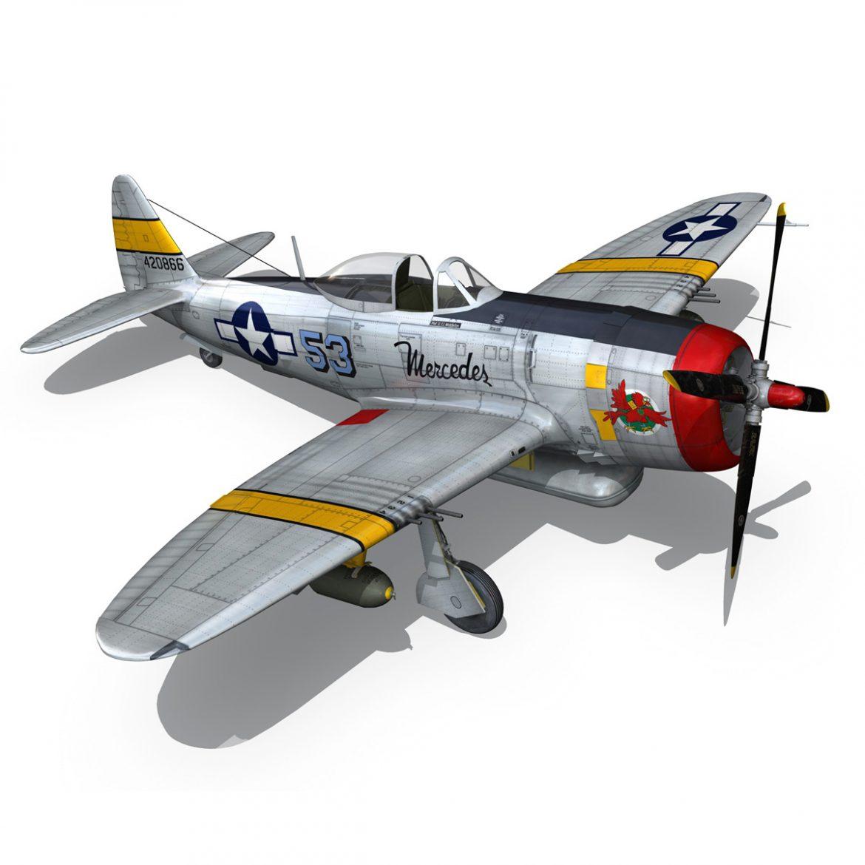 republic p-47d thunderbolt – schmaltzie 3d model fbx c4d lwo obj 298574