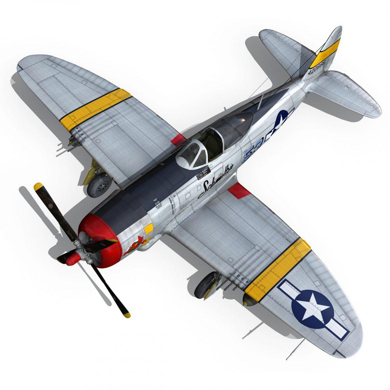 republic p-47d thunderbolt – schmaltzie 3d model fbx c4d lwo obj 298575