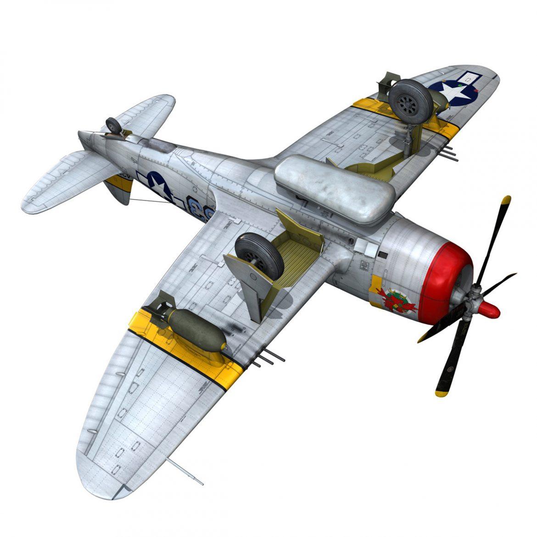 republic p-47d thunderbolt – schmaltzie 3d model fbx c4d lwo obj 298576