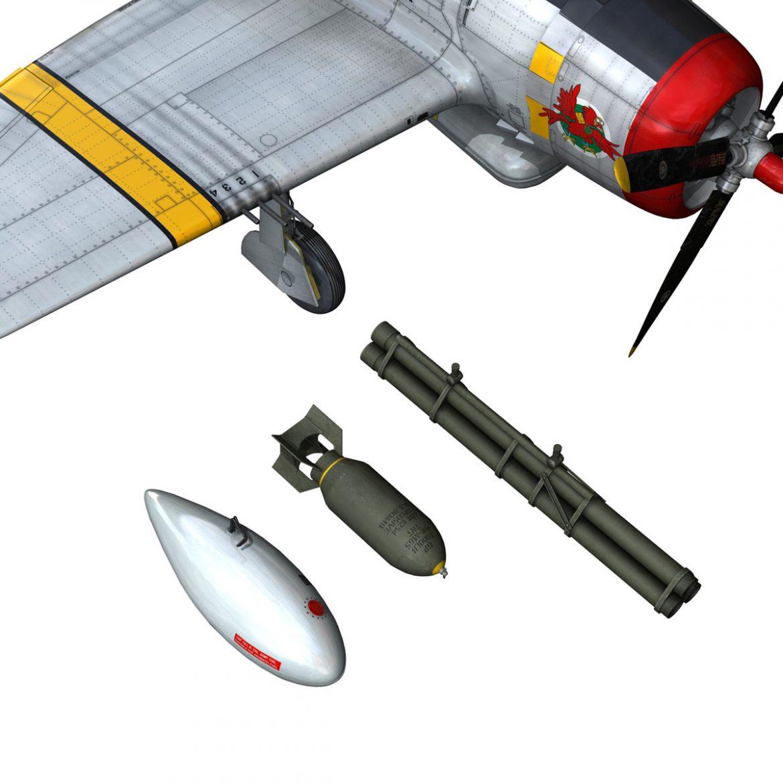 republic p-47d thunderbolt – schmaltzie 3d model fbx c4d lwo obj 298577