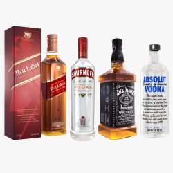 alak bote vodka whiskey collection 3d modelo max fbx ma mb obj 298620