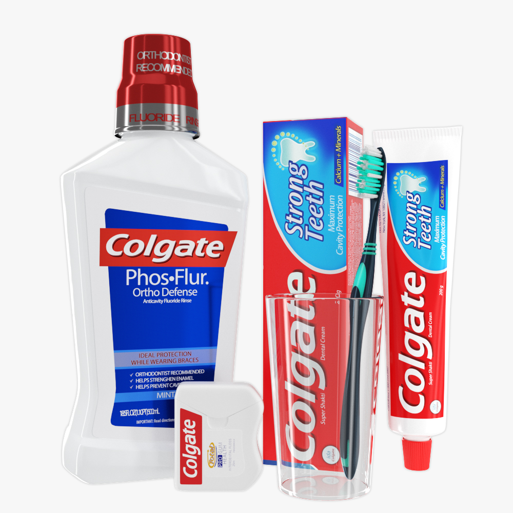 oral hygiene collection 3d model max fbx ma mb obj 298681