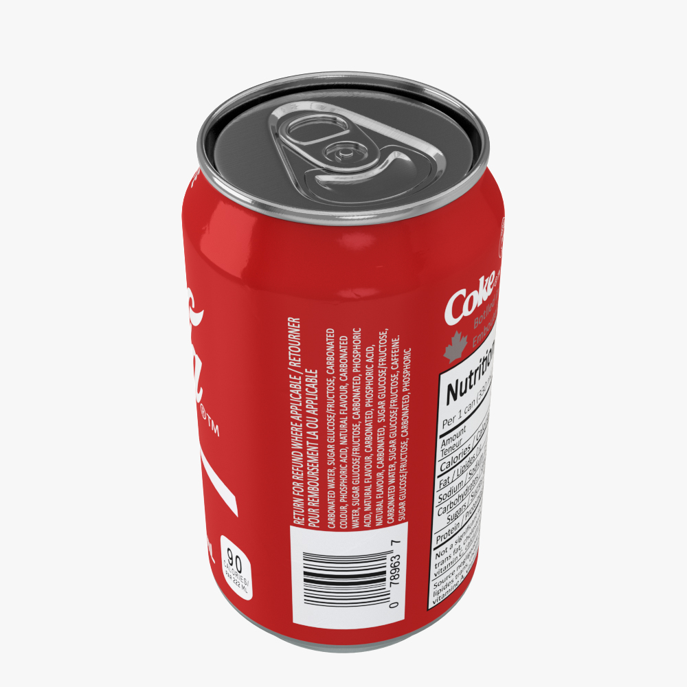soft drink can collection 3d model max fbx ma mb obj 298810