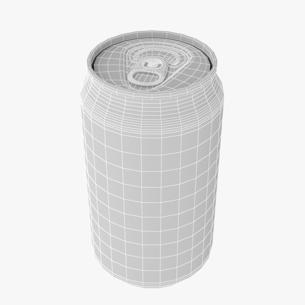 soft drink can collection 3d model max fbx ma mb obj 298812