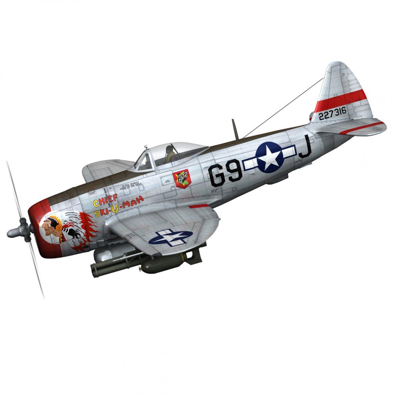 republic p-47d thunderbolt – ski-u-mah 3d model fbx c4d lwo obj 298917