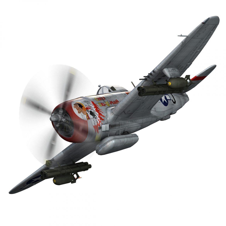republic p-47d thunderbolt – ski-u-mah 3d model fbx c4d lwo obj 298918