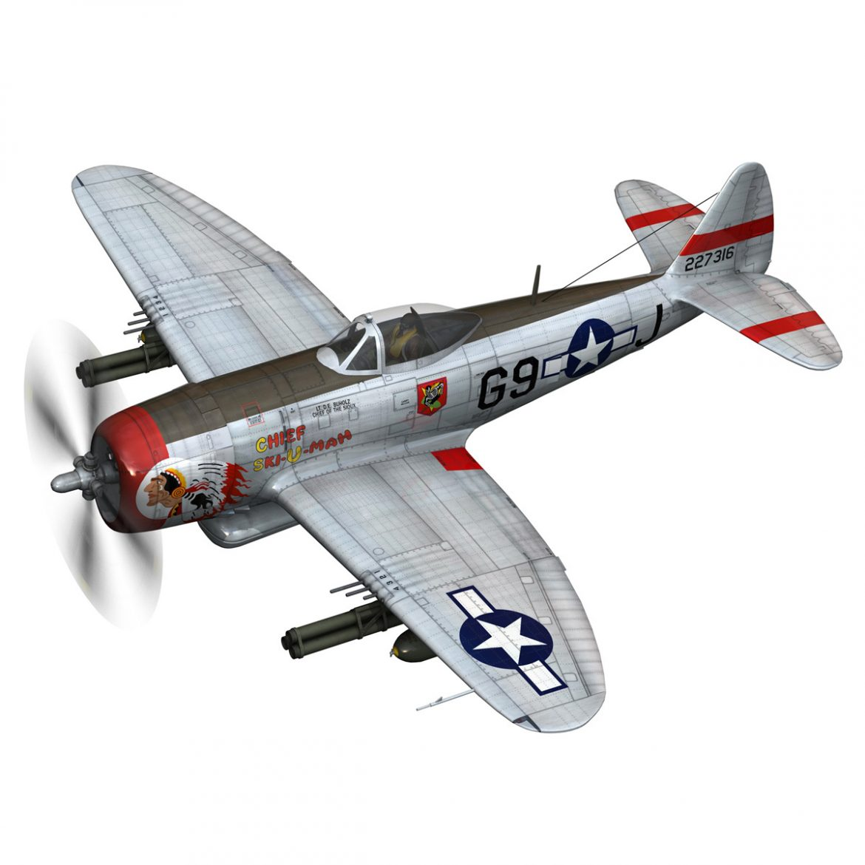republic p-47d thunderbolt – ski-u-mah 3d model fbx c4d lwo obj 298919