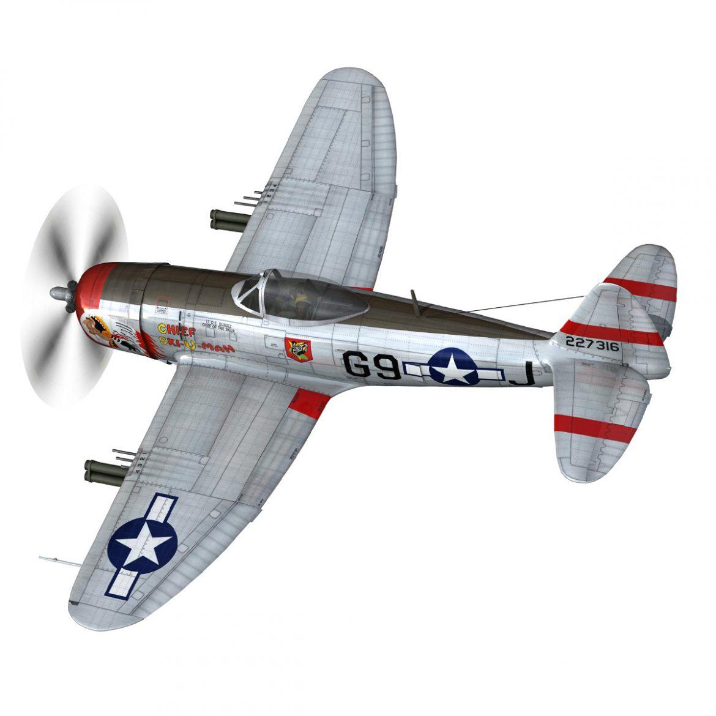 republic p-47d thunderbolt – ski-u-mah 3d model fbx c4d lwo obj 298921