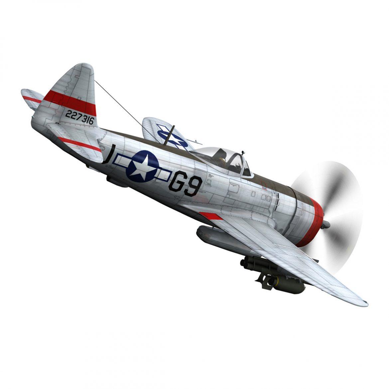 republic p-47d thunderbolt – ski-u-mah 3d model fbx c4d lwo obj 298922