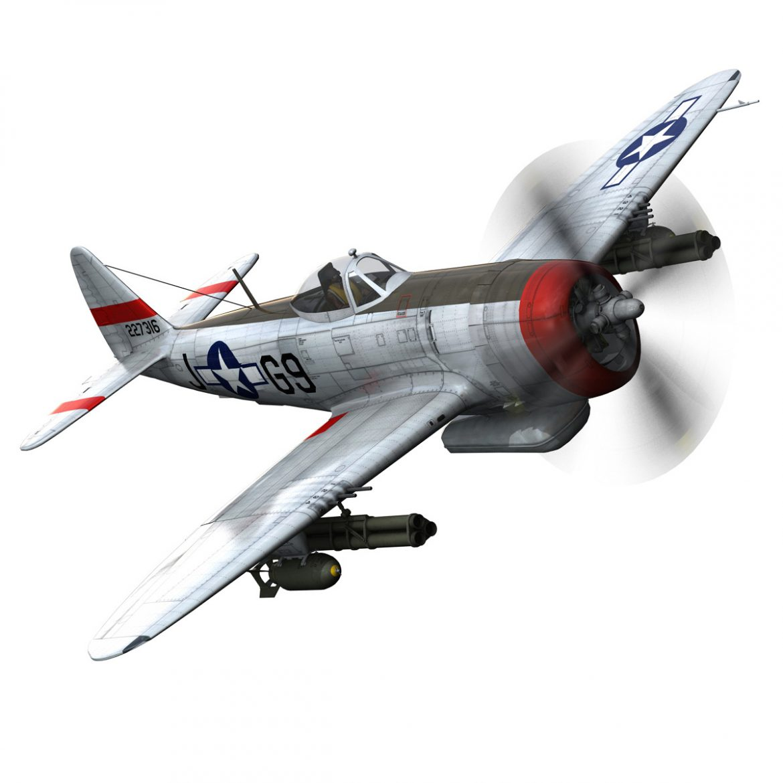 republic p-47d thunderbolt – ski-u-mah 3d model fbx c4d lwo obj 298923
