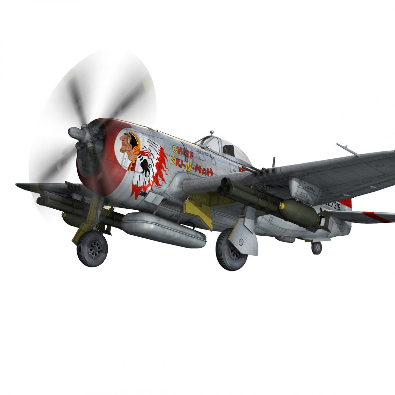 republic p-47d thunderbolt – ski-u-mah 3d model fbx c4d lwo obj 298924