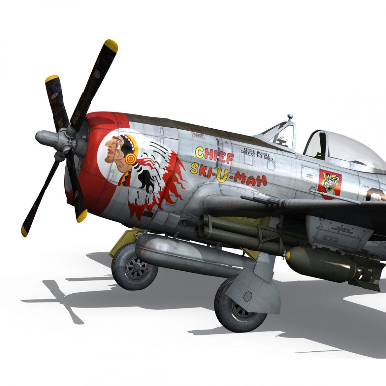 republic p-47d thunderbolt – ski-u-mah 3d model fbx c4d lwo obj 298925