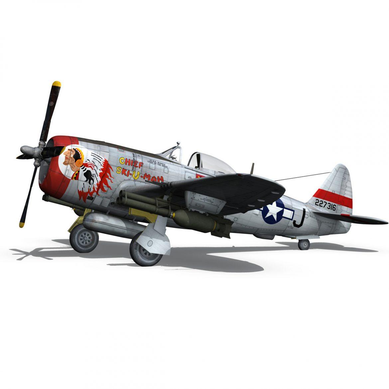 republic p-47d thunderbolt – ski-u-mah 3d model fbx c4d lwo obj 298926