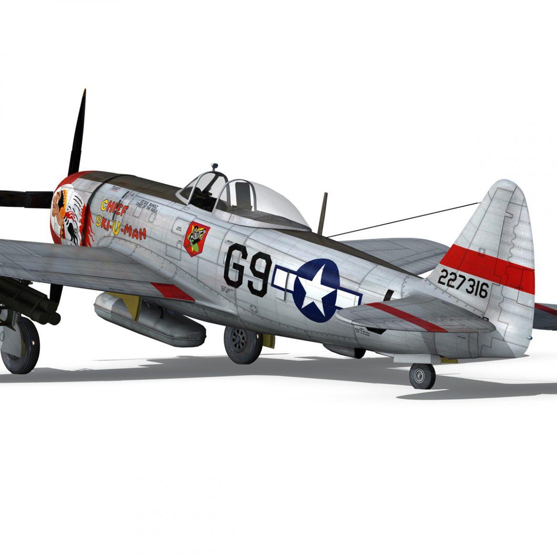 republic p-47d thunderbolt – ski-u-mah 3d model fbx c4d lwo obj 298927