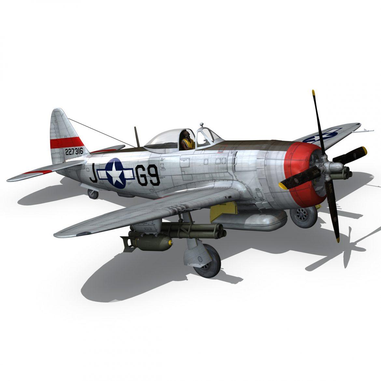 republic p-47d thunderbolt – ski-u-mah 3d model fbx c4d lwo obj 298929