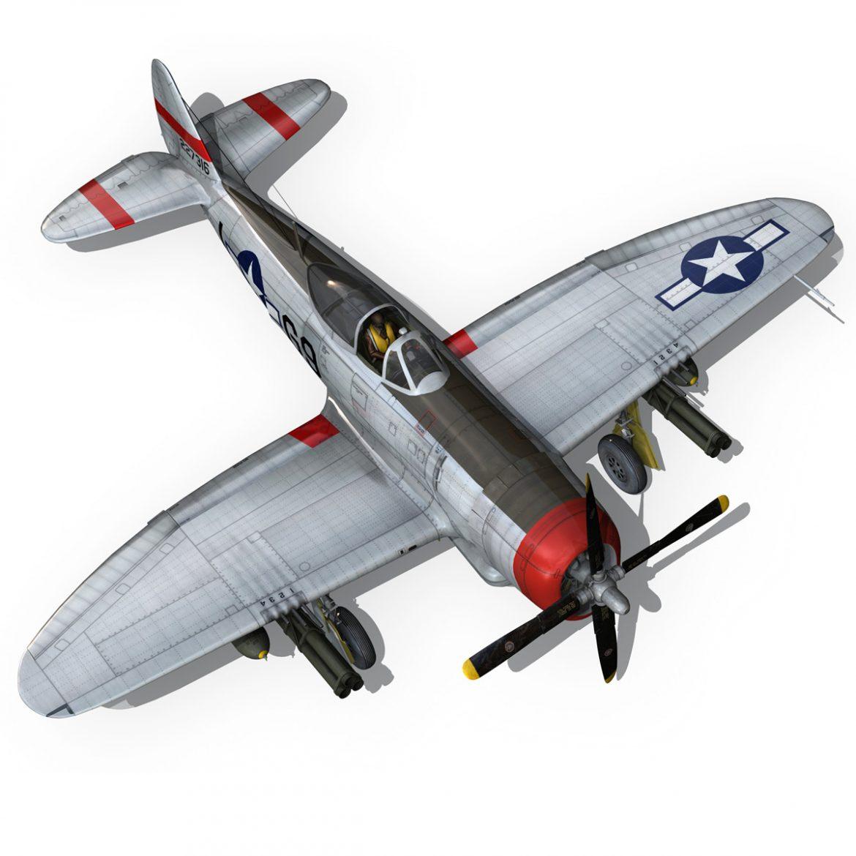 republic p-47d thunderbolt – ski-u-mah 3d model fbx c4d lwo obj 298930
