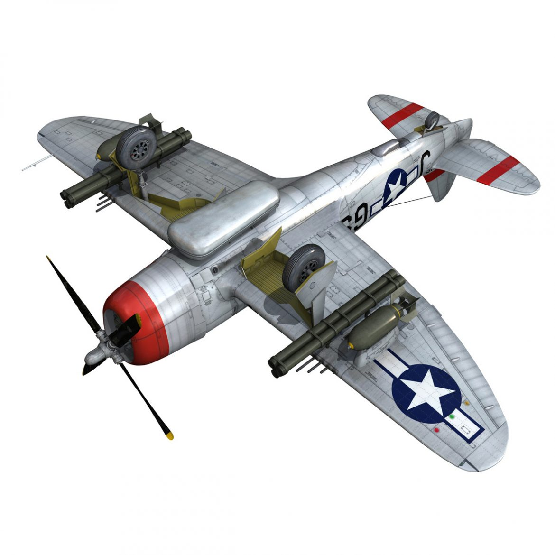 republic p-47d thunderbolt – ski-u-mah 3d model fbx c4d lwo obj 298932