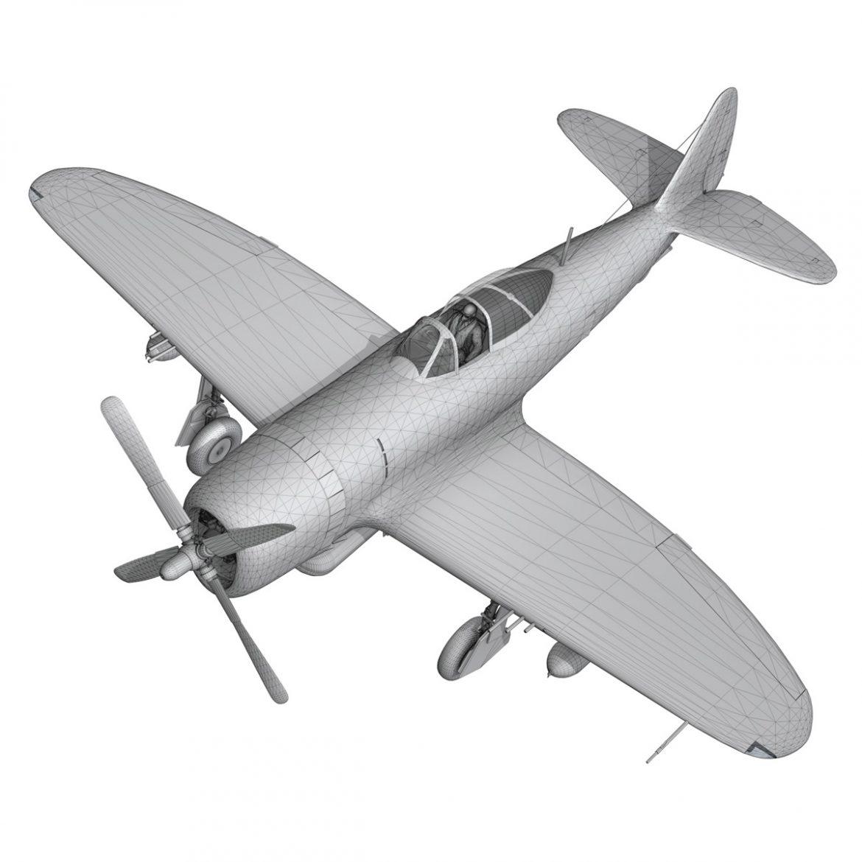 republic p-47d thunderbolt – ski-u-mah 3d model fbx c4d lwo obj 298935