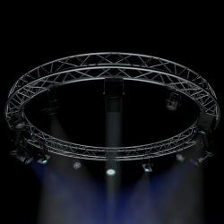 circle square truss 400cm-stage lights 3d model 3ds max fbx c4d dae  obj other 298960