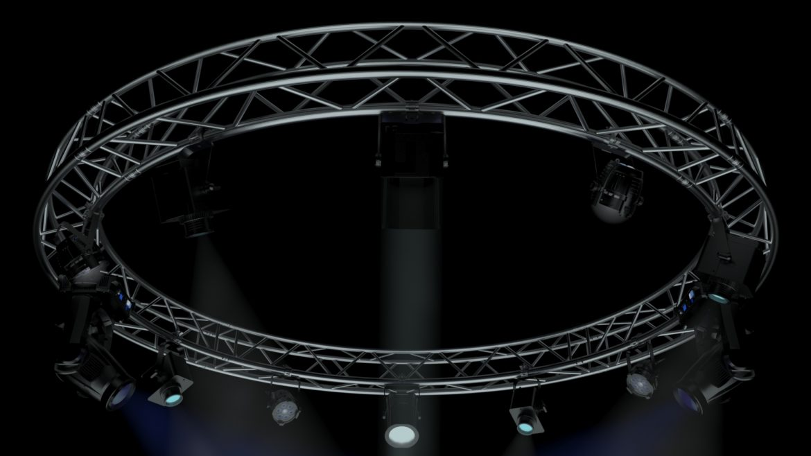 circle square truss 400cm-stage lights 3d model 3ds max fbx c4d dae  obj other 298961