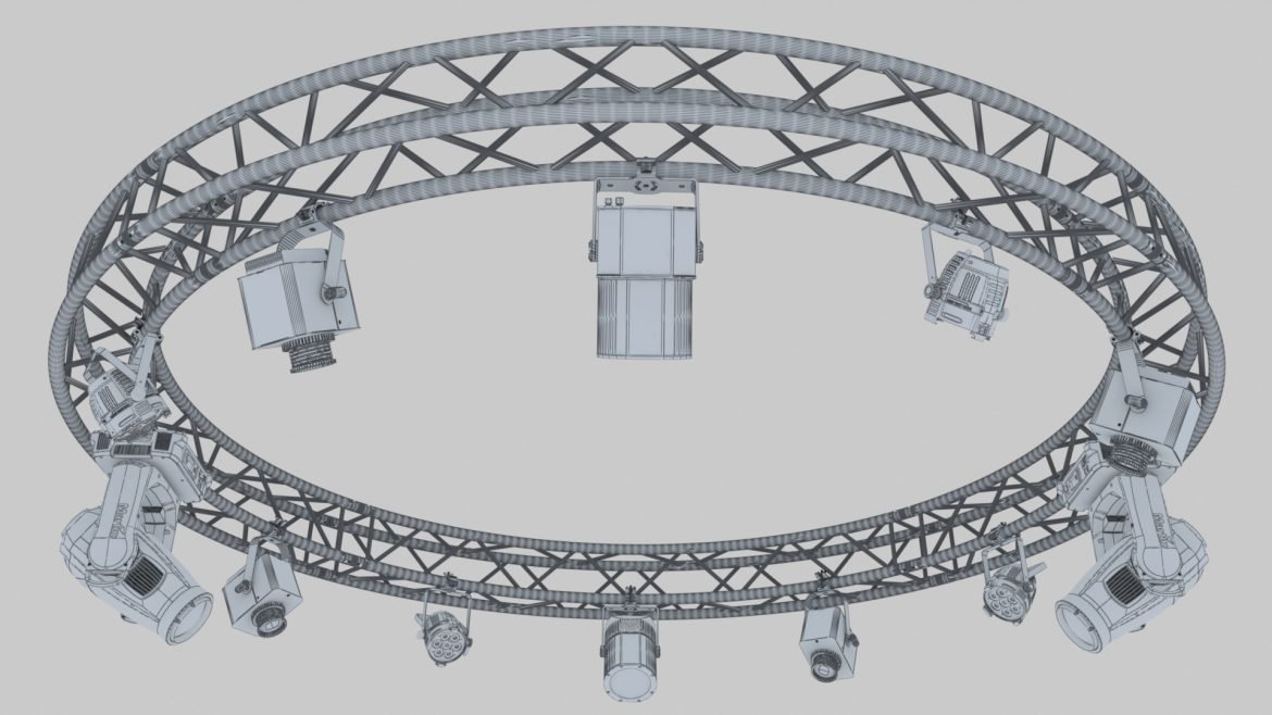 circle square truss 400cm-stage lights 3d model 3ds max fbx c4d dae  obj other 298962