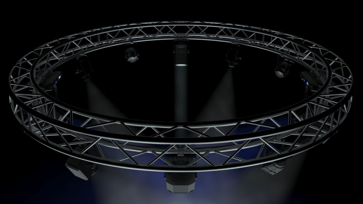 circle square truss 400cm-stage lights 3d model 3ds max fbx c4d dae  obj other 298963