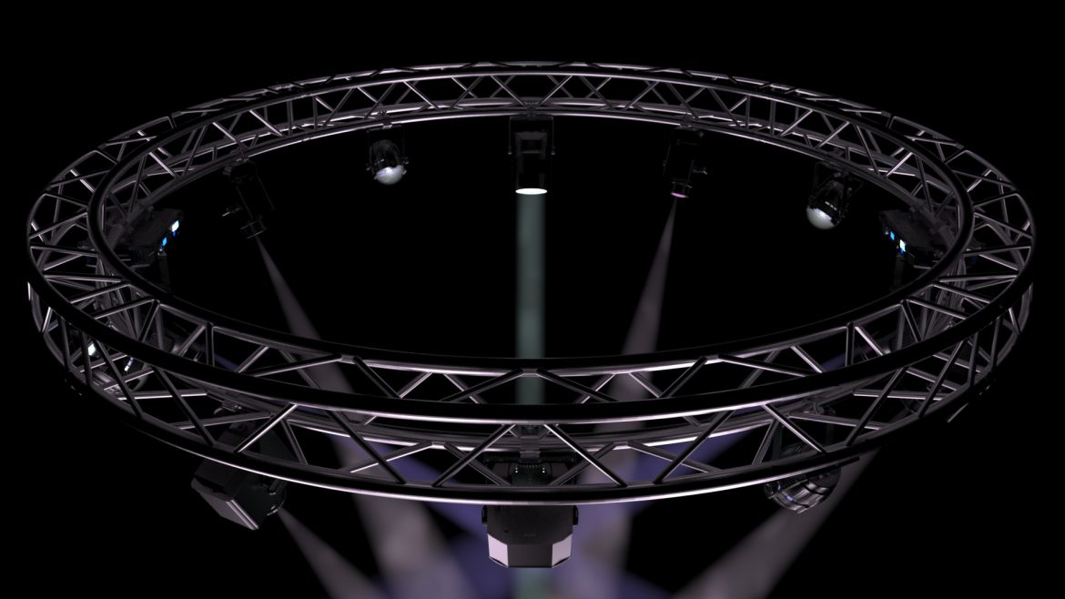circle square truss 400cm-stage lights 3d model 3ds max fbx c4d dae  obj other 298964