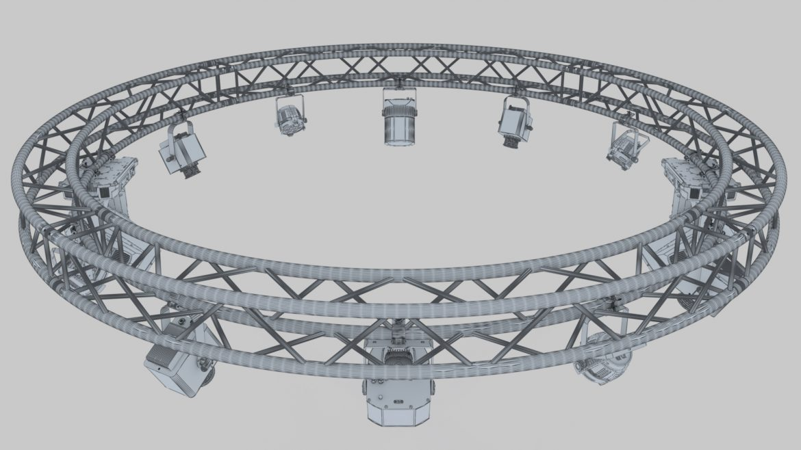 circle square truss 400cm-stage lights 3d model 3ds max fbx c4d dae  obj other 298965