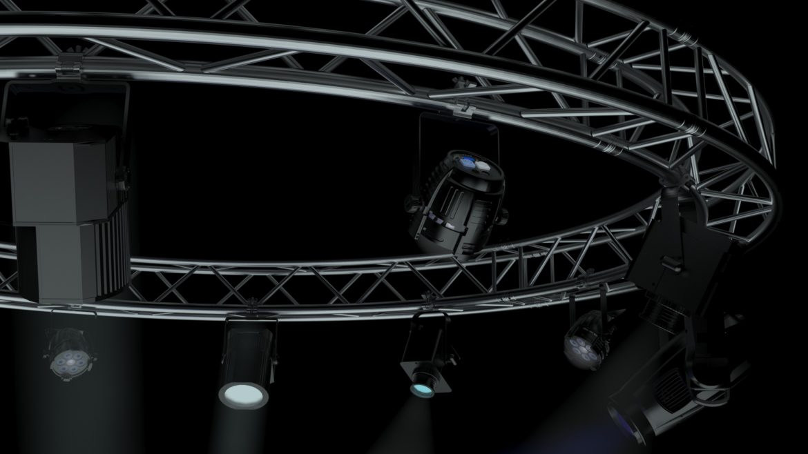 circle square truss 400cm-stage lights 3d model 3ds max fbx c4d dae  obj other 298966